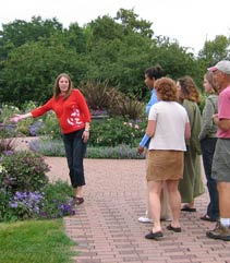 visitor tour in the gardens