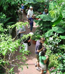 Visitors enjoying the Bolz Conservatory
